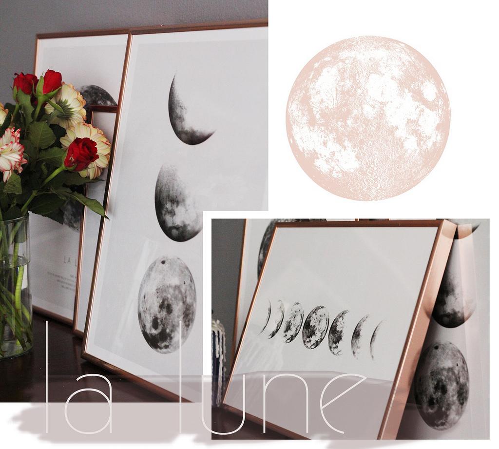 Interior: Moon Cycle & Rose frames x Desenio